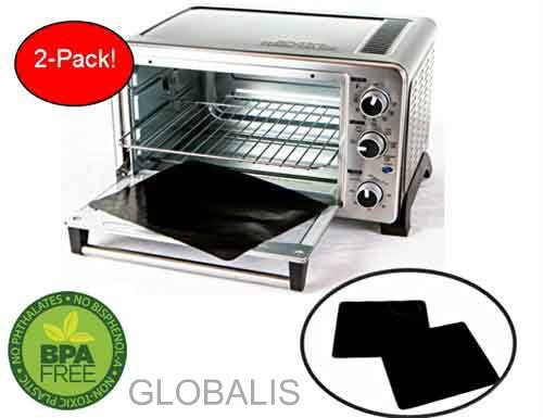 """Toaster Oven Liner TWO-PACK 100% Non-Stick 11"""". Finally, Prevent Spillovers, Gunk & Odors! G ..."""