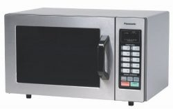 Panasonic NE-1054F Stainless 1000W 0.8 Cu. Ft. Commercial Microwave Oven with 10 Programmable Me ...