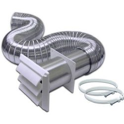 BROAN-NUTONE 318W 4″ x 8″ Aluminum Dryer Vent Kit