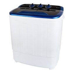 KUPPET 13Ibs Portable Mini Compact Twin Tub Washing Machine Washer Spin Dryer, Ideal for Dorms,  ...