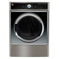 Kenmore Smart 81983 9.0 cu. ft. Electric Dryer with Accela Steam Technology in Metallic Silver & ...