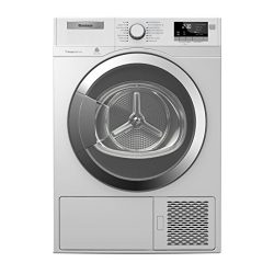 """DHP24412W 24″"""" Ventless Heat Pump Front Load Electric Dryer with 4.1 cu. ft. Capacit ..."""