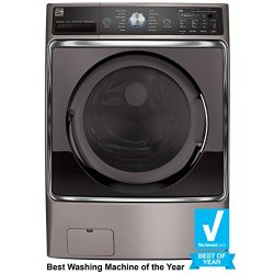 Kenmore Elite 41073 5.2 cu. ft. Front-Load Washer with Steam Treat in Metallic Silver, includes  ...
