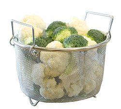 Instant Perrrt!   Premium Steamer Basket   Perfectly Prepares Vegetables, Eggs, Meats & More ...