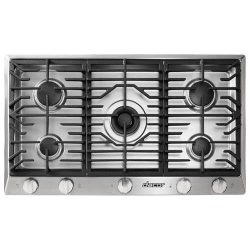 Dacor RNCT365GSNG 36″ Renaissance Natural Gas Cooktop with 5 Sealed Burners Die Cast Knobs ...