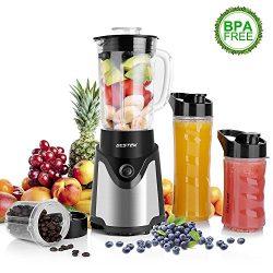 BESTEK BL15 Personal Blender and Coffee Grinder 2-in-1, Single Serve Smoothie Milk-shake Maker w ...