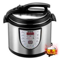 Gtime Electric Pressure Cooker, 8 Qt 18-in-1 Programmable Multi-Cooker, Slow Cooker, Rice Cooker ...
