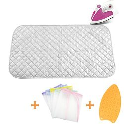 Ironing Blanket Ironing Mat,Upgraded Thick Portable Travel Ironing Pad,Heat Resistant Pad Cover  ...