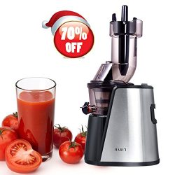 Slow Juicer Wide Mouth Juice Extractor 240Watt Masticating Juicer Machine Powerful Whole Fruit a ...
