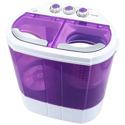 KUPPET Mini Portable Washing Machine, Compact Durable Design to Wash All Your Laundry, Twin Tub  ...
