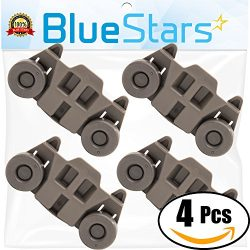 Ultra Durable W10195416 Lower Dishwasher Wheel Replacement by Blue Stars – Exact Fit for W ...