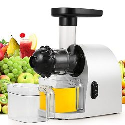 Slow Masticating Juicer Extractor, Cold Press Juicer Machine with Brush to Clean Conveniently Hi ...