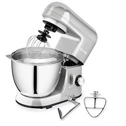 CHEFTRONIC Stand Mixer, Kitchen Mixer,Electric Mixer, 120V 350W, 6 Speeds, Tilt-head,4.2 QT Stai ...