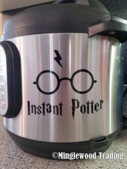 Minglewood Trading INSTANT POTTER 5″ x 4″ BLACK Vinyl Decal Sticker for Instant Pot  ...