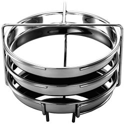 EasyShopForEveryone Pot in Pot Cooking Rack with 3 Steamer Pans | Steam Veggies, Meat Ball, Meat ...