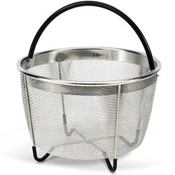 Instant Pot 6 Quart Steamer Basket w/Silicone Handle and 304 Grade Stainless Steel – Simpl ...