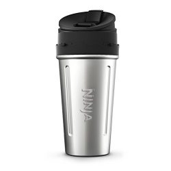 Nutri Ninja 24-Ounce Double-Wall Stainless Steel Cup with Sip & Seal Lid for Nutri Ninja Ble ...