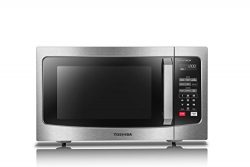Toshiba EM245A5C-SS Microwave Oven with Inverter Technology, LCD Display and Smart Sensor, 1.6 C ...