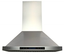 EKON NAP02-30″ Wall Mounted Stainless Steel Kitchen Range Hood/4 Speeds Touch Control LCD  ...
