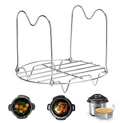 Instant Pot Trivet with Handles for 6 or 8 Quart Instant Pot Accessories, Stainless Steel Pressu ...
