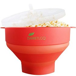 Silicone Microwave Popcorn Popper with Lid for Home – Hot Air Microwave Popcorn Makers wit ...