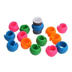 certainPL 8/16/24/32/40/48Pcs Peels Thread Spool Huggers for Sewing Machine to Prevent Thread Un ...