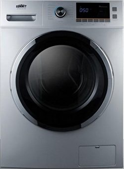 Summit SPWD2201SS 24″ Washer/Dryer Combo with 2 cu. ft. Capacity Stainless Steel Drum 1200 ...