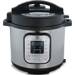 SilverOnyx 6 Qt 10-in-1 Multi-Use, Electric Pressure Cooker, Programmable, Slow Cooker, Rice Coo ...