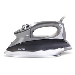 Maytag M1200 Digital Smart Fill Steam Iron & Vertical Steamer with Pearl Ceramic Sole Plate, ...