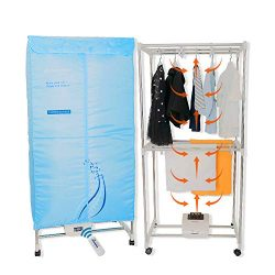 Concise Home Electric Clothes Dryer Stainless Steel Indoors Tri Layers Fast Air Dry Hot Wardrobe ...