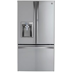 Kenmore Elite 73165 28.5 cu. ft. Bottom Freezer Refrigerator with Grab-N-Go Door in Stainless St ...