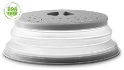 Gourmia GML9930D Collapsible Microwave Cover – Dome or Flat Bowl and Plate Lid – Prevents  ...