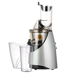 1Easylife Slow Masticating Juicer, 3″ Wide Chute Cold Press Juicer Machine with Quiet 260W ...