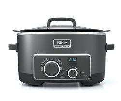 Ninja Multi-Cooker with 4-in-1 Stove Top, Oven, Steam and Slow Cooker Options, 6-Quart Nonstick  ...