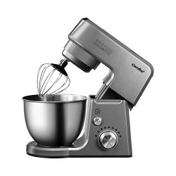 Comfee 2.6Qt Die Cast 7-in-1 Multi Function Tilt-Head Stand Mixer with SUS Mixing Bowl, Whisk, H ...