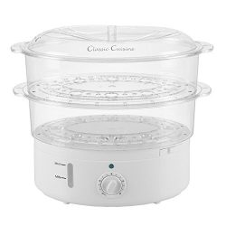 Vegetable Steamer Rice Cooker- 6.3 Quart Electric Steam Appliance with Timer for Healthy Fish, E ...