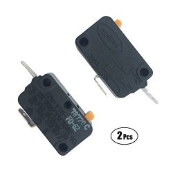 LONYE (Pack of 2) SZM-V16-FD-62 WB24X830 Monitor Switch RE2 for GE Kenmore Starion Microwave WB2 ...