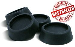 Super Silent Washer and Dryer Antivibration Pads – Best Washing Machine Stabilizer , Includes 4  ...