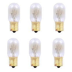 Oumai 6 Pack 25 Watt Microwave Oven Replacement Light Bulbs T22 E17 Base Appliance Light Bulbs