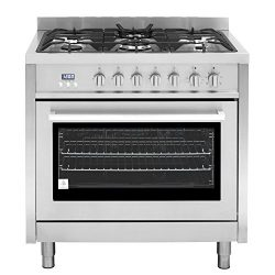 Cosmo F965 36-Inches Dual Fuel Gas Range with 3.8 cu. ft. Oven, 5 Burners, Convection Fan, Cast  ...