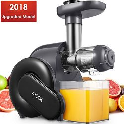 Juicer, Aicok Slow Masticating Juicer with Reverse Function, Cold Press Juicer with Quiet Motor, ...