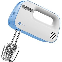 Vremi Electric Hand Mixer 3 Speed with Built-in Storage Case – 150 Watt Power Egg Beater H ...