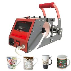 Heat Transfer Sublimation Mug Heat Press Transfer Printing Machine for Coffee Mugs Cups with One ...