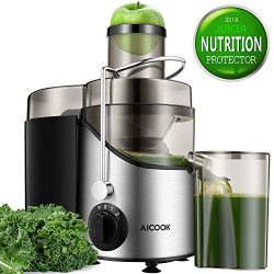 "Juicer Juice Extractor, Aicook 3"" Wide Mouth Stainless Steel Centrifugal Juicer, BPA-Free, ..."