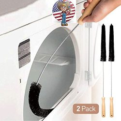 HOLIKME 2 Pack Clothes Dryer Vent Cleaner Kit Dryer Vent Trap Cleaner Brush Dryer Lint Brush