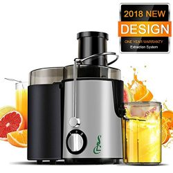SLC Juice Extractor, Wide Mouth Centrifugal Juicer Machine, 400W Stainless Steel Dual Speed Sett ...