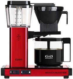 Technivorm Moccamaster 59618 Coffee Machines, 40 oz, Red Metallic