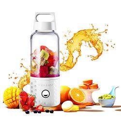 Portable Blender, TOPQSC Smoothie Blender USB Juicer Cup, 17oz Fruit Mixing Machine with 4000mAh ...