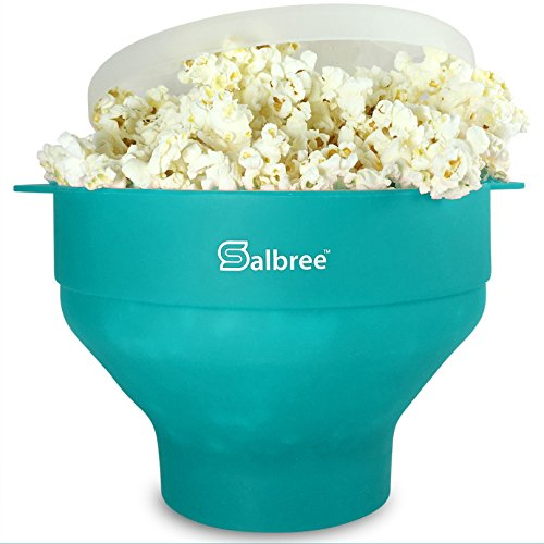 The Original Salbree Microwave Popcorn Popper, Silicone Popcorn Maker, Collapsible Bowl BPA Free ...