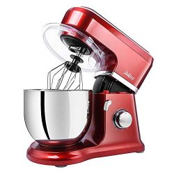 Betitay Stand Mixer, 6-Speed 4.5 QT 304 Stainless Steel Bowl Kitchen Mixer, Dough Mixer with Spl ...
